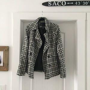 Women's Pea Plaid Tweed Pea Coat